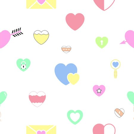 heart seamless pattern background icon.