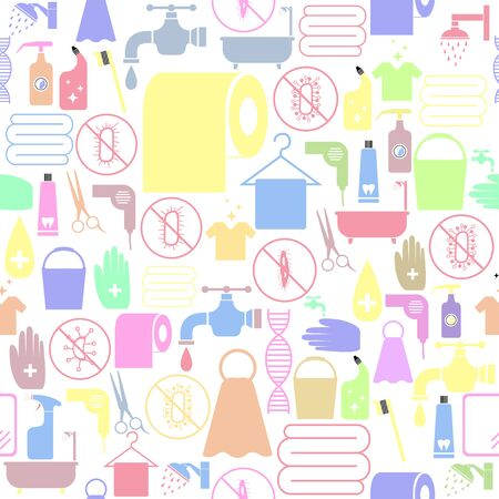 hygiene seamless pattern background icon. Banco de Imagens - 134599892