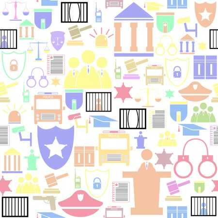 law seamless pattern background icon. Banco de Imagens - 134599911