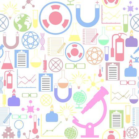 lab seamless pattern background icon.