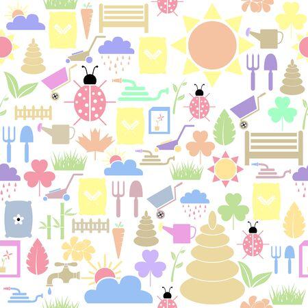 lawn seamless pattern background icon. Ilustração