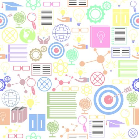 knowledge seamless pattern background icon. Ilustração