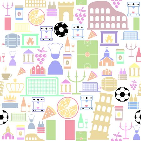 italy seamless pattern background icon.