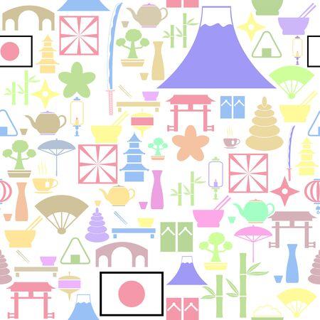 japan seamless pattern background icon. Ilustração