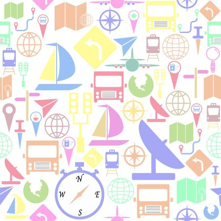 map seamless pattern background icon. Banco de Imagens - 134665828