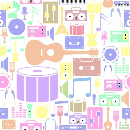 musical seamless pattern background icon.