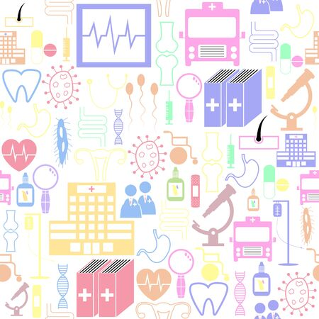medical seamless pattern background icon. Banco de Imagens - 134844541