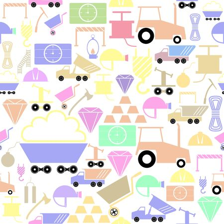mining seamless pattern background icon. Stock Illustratie