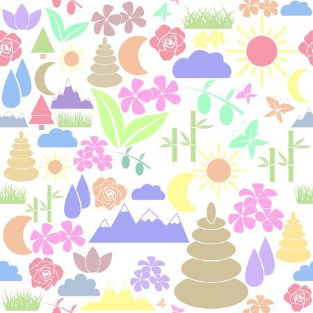 nature seamless pattern background icon. Ilustração