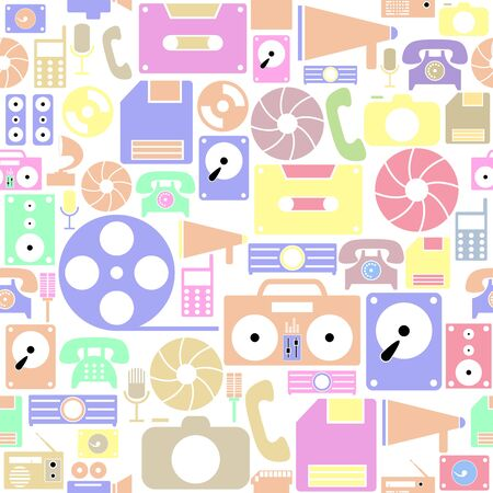 old technology seamless pattern background icon.