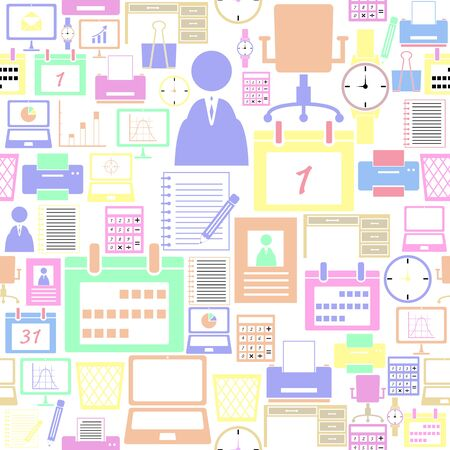 office equipent seamless pattern background icon.