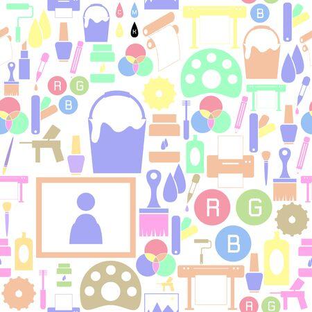 paint seamless pattern background icon. Ilustração