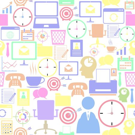 office seamless pattern background icon. Ilustração