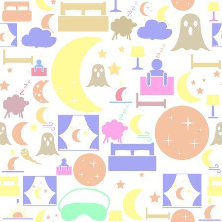 night seamless pattern background icon.