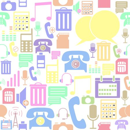 phone seamless pattern background icon.