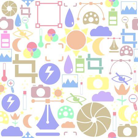 photo seamless pattern background icon.