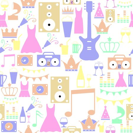 prom seamless pattern background icon.