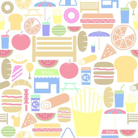 picnic seamless pattern background icon. Ilustração