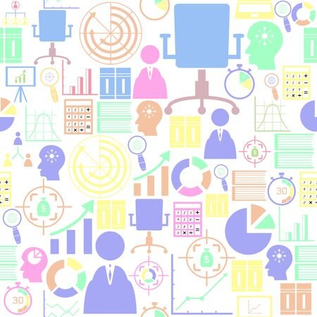 project management seamless pattern background icon.