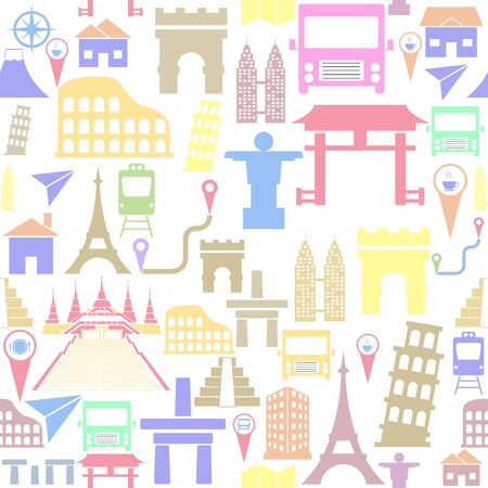place seamless pattern background icon.