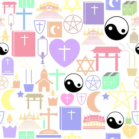 religion seamless pattern background icon. Ilustração