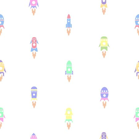 rocket seamless pattern background icon. Ilustração