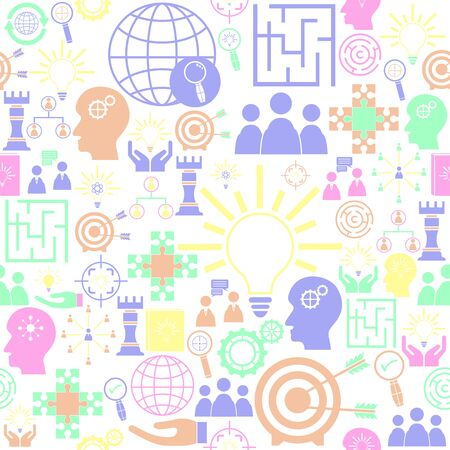 solution seamless pattern background icon. Иллюстрация