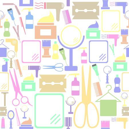 salon seamless pattern background icon.