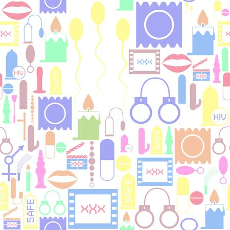 sex toy seamless pattern background icon.