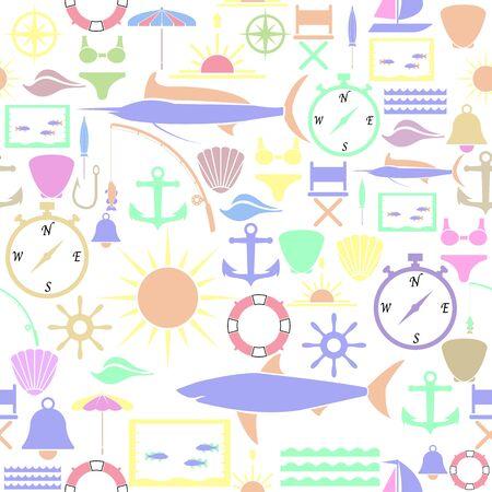 sea seamless pattern background icon.