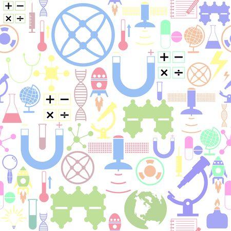 icono de fondo de patrón transparente de ciencia.