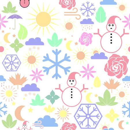 season seamless pattern background icon. Illustration