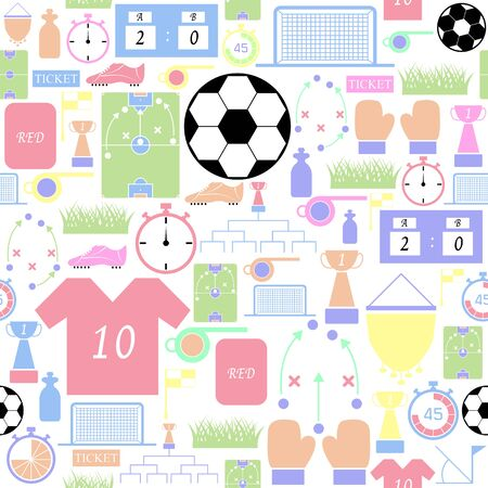 soccer seamless pattern background icon.