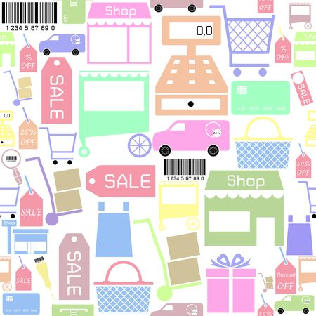 sale seamless pattern background icon.