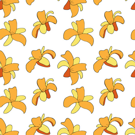 Floral pattern with daylilys