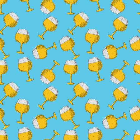 Beer seamless pattern. Perfect for seasonal, autumn, octoberfest design