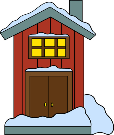 Illustration of house in vector. Cute cartoon design. Perfect for card, calendar design