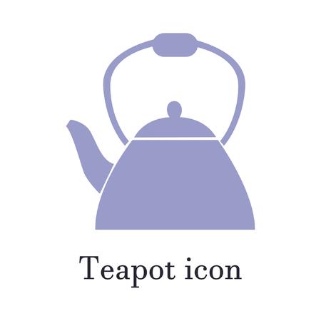 The teapot icon. Tea symbol. Flat Vector illustration