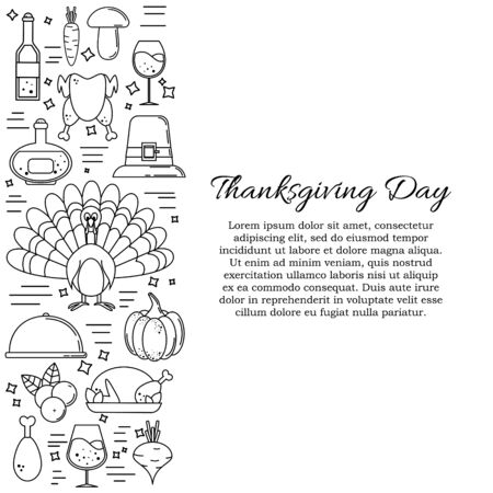 Thanksgiving card concept. Vector illustration for design and web Stok Fotoğraf - 132305625