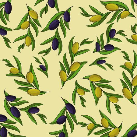 Vector card with olive branches. illustration for design, web and decor Çizim