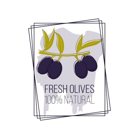 olive oil logo in cartoon style. Vector illustration for design, web and decor Stok Fotoğraf - 132305760