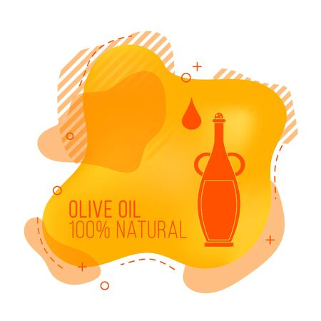 Vector banner with olive oil. Illustration for design, web and decor Çizim