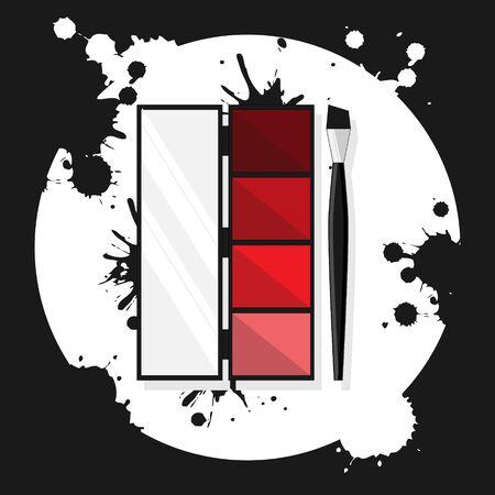 eye shadows flat illustration. Modern vector card concept for design and web. Illusztráció