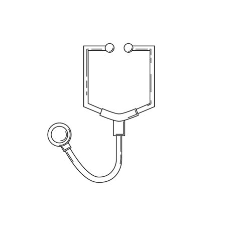 stethoscope line icon. Medicine vector illustration for design and web.