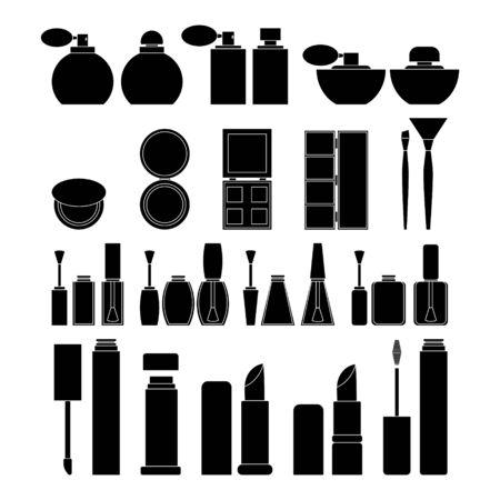 Set of simple medicine objects. Vector healthcare illustration for design