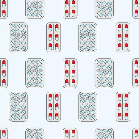 Medicine seamless pattern. Vector illustration for design Çizim