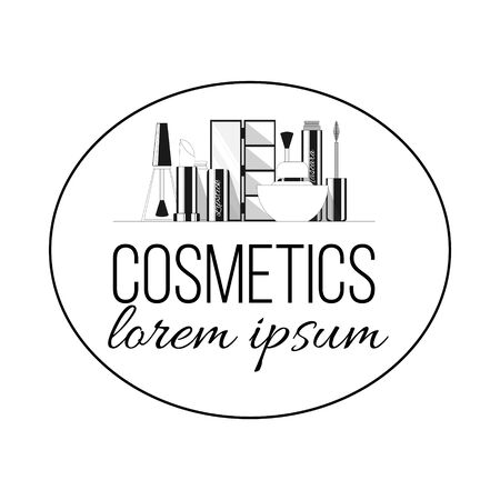 Cosmetics line logo. Vector illustration for design and web.
