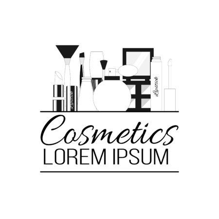 Cosmetics line logo. Vector illustration for design and web. Stok Fotoğraf - 132305887