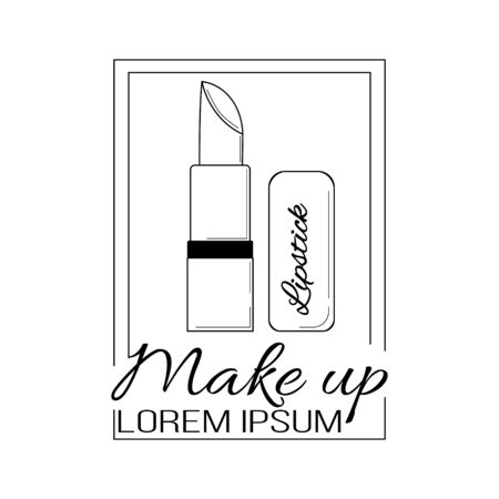 Cosmetics line logo. Vector illustration for design and web. Stok Fotoğraf - 132304803