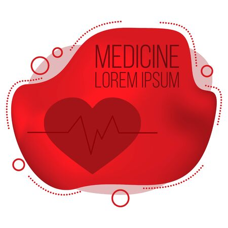 Modern medicine banner. Vector health care card concept for design Stok Fotoğraf - 132304808